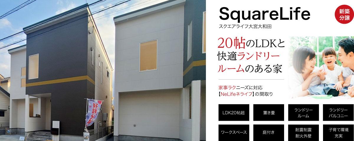 大宮大和田駅徒歩3分!22帖のフレキシブルLDKと快適ランドリールームのある家